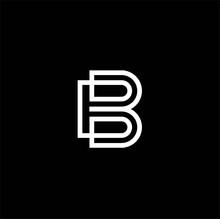 B Letter Monogram Logo,Abstrac...