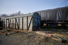 Abandoned Train Depot With Var...
