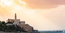 Old Town Port Of Jaffa In  Tel Aviv Isreal.