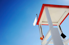 Lifeguard Wooden Tower On The ...