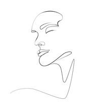 Woman Face One Line Art 2