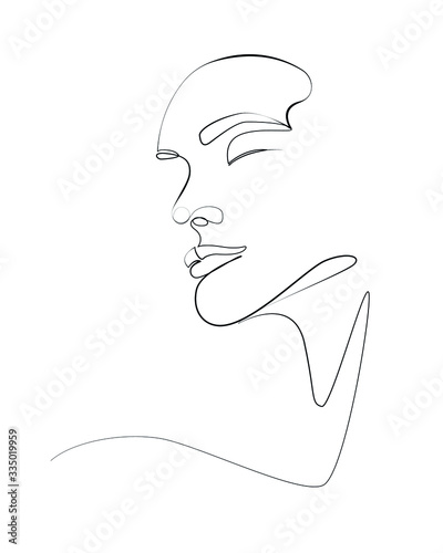woman face one line art 2