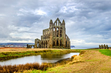 Whitby Abby Now Derelict And Formally A Benedictine Abbey And Is Situated Overlooking The Sea On The East Cliff Above The Fishing Village And Is Used Today By Sailors As A Landmark At The Headland. .
