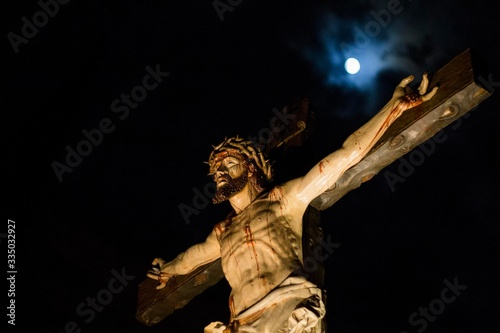"""This is a procession of """"Easter Week"""" of Zamora, Castilla y León. """"Martes Santo"""" with the cofradia """"Las Siete Palabras"""""""