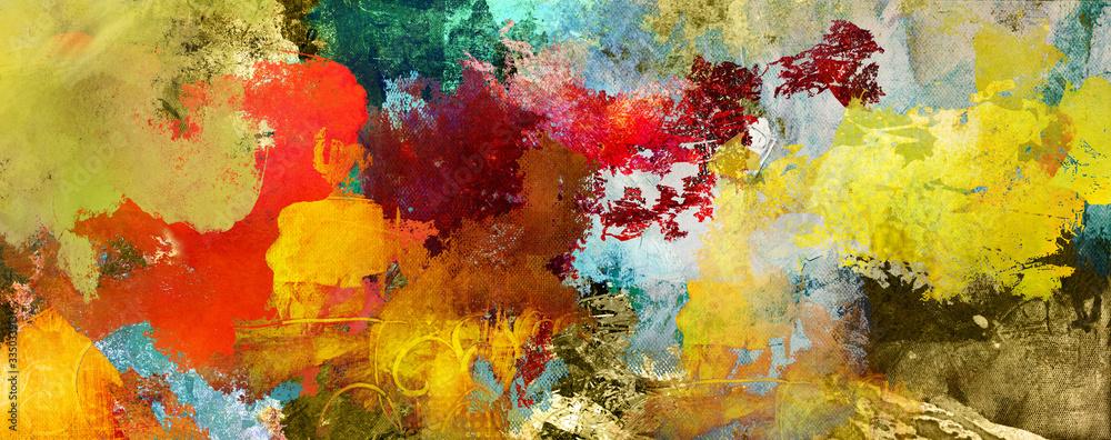 Fototapeta texturen ocker rot braun lila grau gold