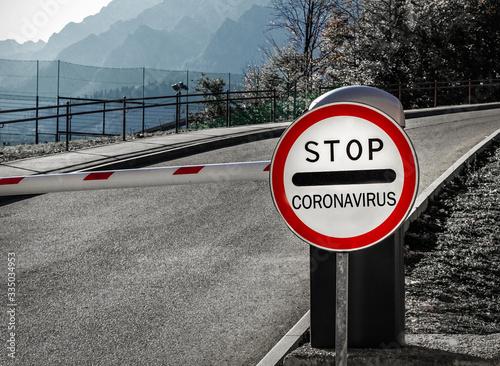Concept of coronavirus quarantine Fototapeta