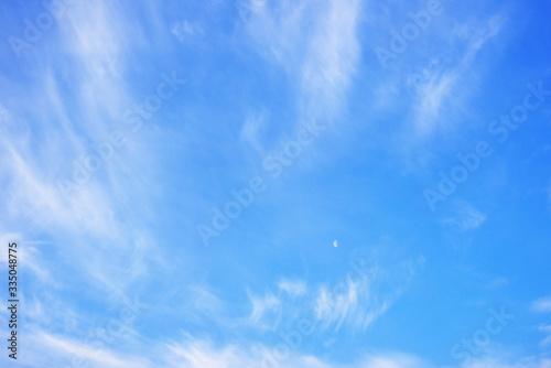 青空と筋雲 03 Canvas Print