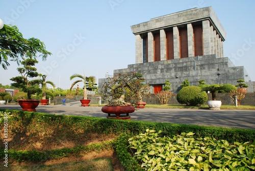 Fotografie, Obraz Ho Chi Minh Mausoleum in Hanoi Vietnam from the backside