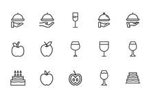 Stroke Line Icons Set Of Gastr...