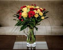Beautiful Shot Of A Bouquet Of...