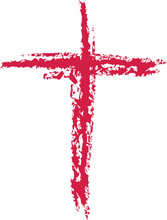 Painted Red Stroke Of Easter C...