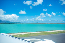 Honolulu Skyline From HNL Airport - On Tarmac