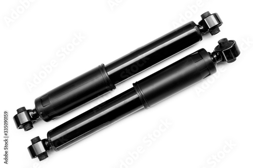 shock absorbers on a white background Wallpaper Mural