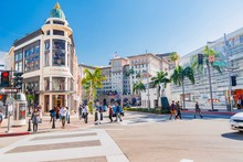 Panorama Of Beverly Hills And Rodeo Drive
