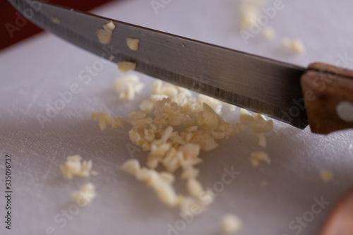 Photo Alho picado para temperar comida