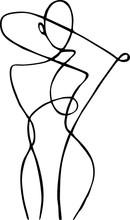 Female Figure, Drawn In One Li...