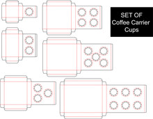 SET OF Coffee Carrier Cups - D...