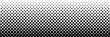 Vector comic book background with halftone gradient in retro pop art style. Long horizontal banner