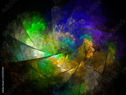 surreal futuristic digital 3d design art abstract background fractal illustratio Canvas Print