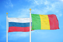 Russia And Mali Two Flags On F...