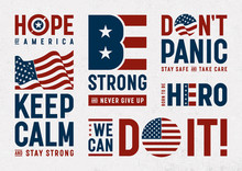 USA Patriotic Motivation Typog...