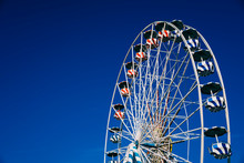 Ferris Wheel Against Clear Blu...