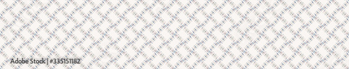 Seamless minimal geo shape border pattern design. Neutral pastel color in fre...