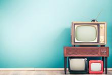 Retro Classic Old Analog TV Re...