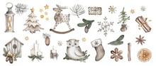 Christmas Illustration Of Seve...