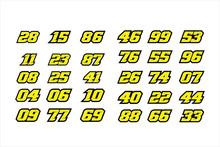 Set Of Racing Number, Start Ra...