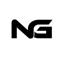 Initial 2 Letter Logo Modern Simple Black NG