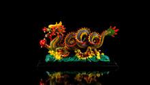 Ceramic Colorful Asian Dragon ...