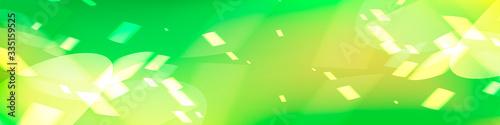 Photo 光を感じる緑の抽象背景デザイン、アブストラクトバックグラウンド