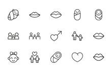 Icon Set Of Romance.