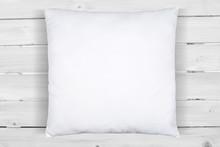 Square White Pillow Mockup On ...