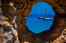 View Of Yachts At Sea Through ...