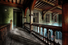 Beautiful Antique Interior In An Abandoned Castle