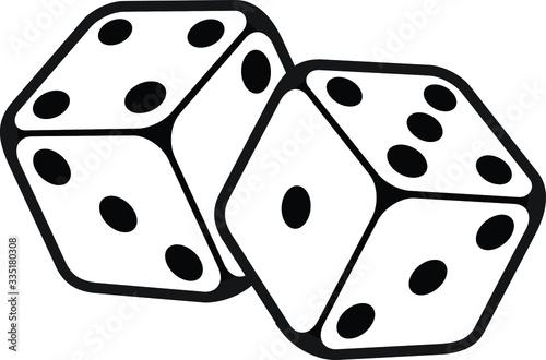 Leinwand Poster Game dice in flight Casino dice