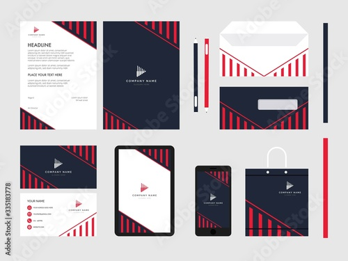 Cuadros en Lienzo geometry modern flat business corporate identity stationery