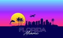 Miami Florida VIce City Synthwave