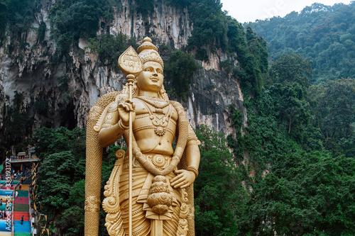 Batu Caves statue and entrance near Kuala Lumpur, Malaysia. Canvas Print