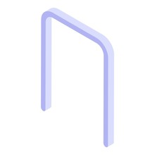 Croquet Gate Icon. Isometric O...