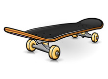 Vector Skateboard Drawing Design Isolated