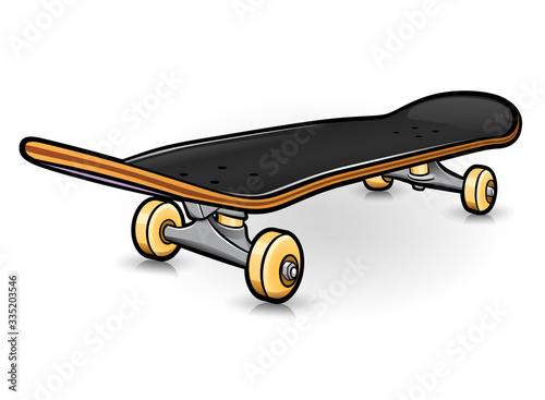 Valokuva Vector skateboard drawing design isolated