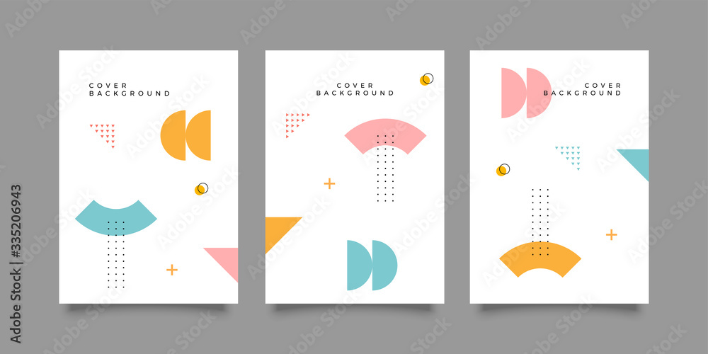 Fototapeta Covers with minimal design. Cool geometric backgrounds for your design. Applicable for Banners, Placards, Posters, Flyers etc. Eps10 vector