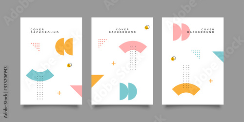 Obraz Covers with minimal design. Cool geometric backgrounds for your design. Applicable for Banners, Placards, Posters, Flyers etc. Eps10 vector - fototapety do salonu