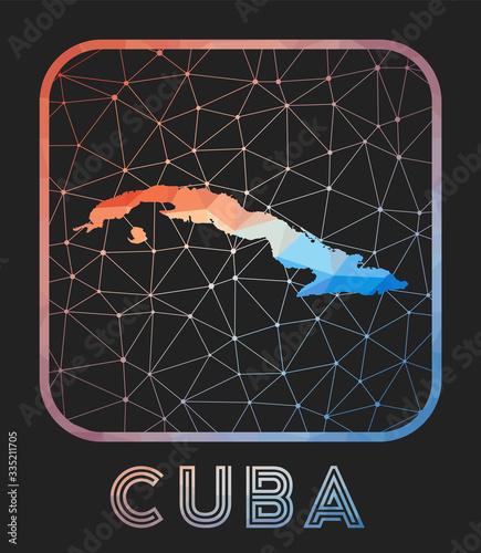 Photo Cuba map design