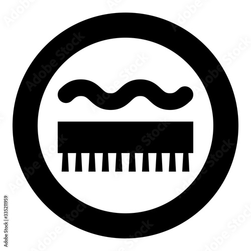 Abrasion resistant for broom brushing Designation on the wallpaper symbol icon i Canvas Print