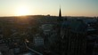 City of Aachen during sunset