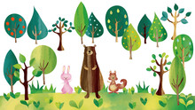北欧風 動物の森
